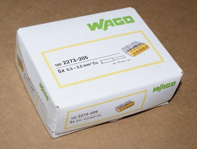 100 Stück WAGO 3-polig Compact Verbindungsklemme 2273-203